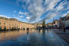 Miejsce Kleber jest głównym placem Strasburg fotografia stock