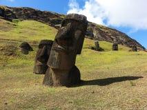 Miejsce narodzin Moai fotografia stock