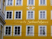 miejsce narodzin Mozart s Obrazy Stock