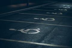 Miejsce niepełnosprawny parking Zdjęcia Stock