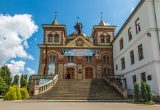 Miejsce Piastowe, Polen - Juli 22, 2016: Heiligdom van St Michael Stock Afbeeldingen