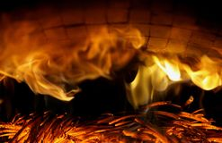 miejsce pożaru obrazy royalty free