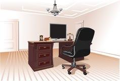 Miejsce pracy w pokoju Zdjęcie Royalty Free