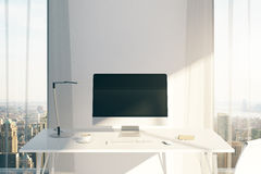 Miejsce pracy z komputerem Obraz Stock