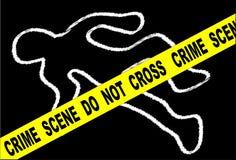 Miejsce Przestępstwa kreda Mark ilustracji
