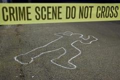 Miejsce przestępstwa no krzyżuje zdjęcia stock