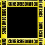Miejsce przestępstwa taśmy rama Obraz Stock