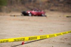 Miejsce przestępstwa wybuchu pojazd Zdjęcia Stock