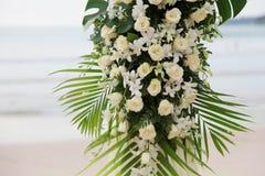 Miejsce przeznaczenia ślub na plaży. Fotografia Royalty Free