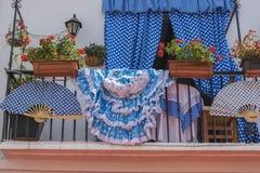 miejsce przeznaczenia, architektura i ulicy biali kwiaty w Marbel, obraz royalty free