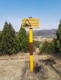 Miejsce przeznaczenia deska Na wzgórzu zdjęcie royalty free