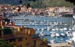 Miejsce przeznaczenia Italy, portowy Hercules, Tuscany Zdjęcia Royalty Free