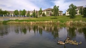 Miejsce przy Nadjeziornym Condomimiums, Edmonton, Alberta, Kanada zdjęcie royalty free
