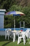 Miejsce relaksować blisko basenu zdjęcie royalty free