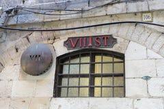 Miejsce siódmy przerwa jezus chrystus na sposobie egzekucja w starym mieście Jerozolima na ulicie, Izrael zdjęcie royalty free