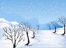 Miejsce zakrywający z śniegiem ilustracja wektor