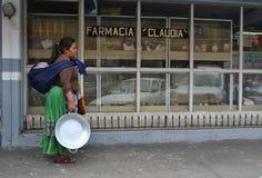 Miejscowa kobieta pracuje Guadalajara Meksyk Fotografia Stock