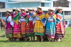 Miejscowe quechua kobiety w colourful sukniach Fotografia Royalty Free