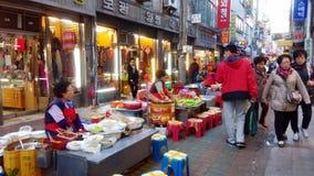 Miejscowego rynek w Seul Południowy Korea Zdjęcia Stock