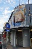 Miejscowego typowy uliczny widok w Johor Bahru Malezja zdjęcia royalty free