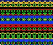 Miejscowego wzór w Jaskrawych kolorach royalty ilustracja