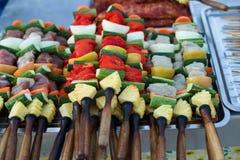 Miejscowi przygotowywali jedzenie na ulicach Tajlandia zdjęcie royalty free