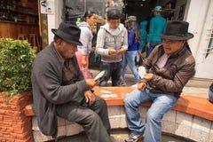 Miejscowi quechua mężczyzna karta do gry Zdjęcia Stock