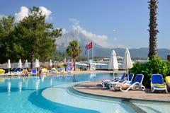 Miejscowość nadmorska blisko Kemer, Turcja Zdjęcia Royalty Free