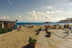 Miejscowość Nadmorska W Włochy W letnim dniu Zdjęcia Stock