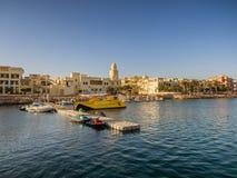Miejscowość turystyczna w Aqaba Jordania dokąd promy od Egipt ziemi Fotografia Stock