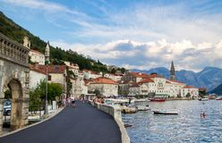 Miejscowość wypoczynkowa Perast, Montenegro obraz stock