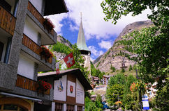Miejscowość Wypoczynkowa Zermatt, Szwajcaria Zdjęcie Royalty Free