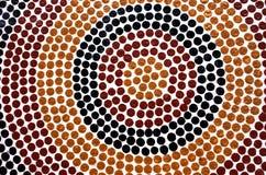 Miejscowy Australijski sztuki kropki obraz obraz stock