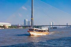 Miejscowy przewieziona łódź Obraz Royalty Free