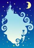 miejscu abstrakcyjna bajka nocne niebo Obraz Stock