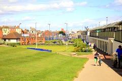 Miejscy ogródy, morze. Zdjęcie Royalty Free