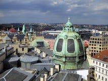 Miejska domu groszaka kopuła w Praga zdjęcia royalty free