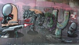 miejska graffiti ścianę Fotografia Royalty Free