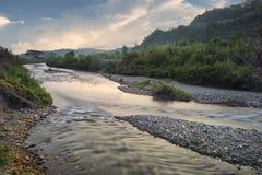 miejska rzeki Obrazy Royalty Free