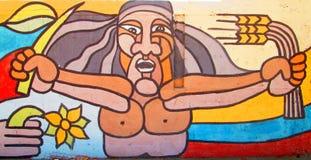 miejska sztuki twarzy i banatki ucho obraz royalty free