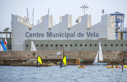 Miejski żeglowania Centre w Barcelona Zdjęcia Royalty Free