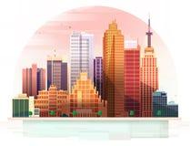 miejski krajobrazu również zwrócić corel ilustracji wektora Obrazy Royalty Free