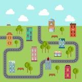 miejski krajobrazu Wektorowa ilustracja społeczność ilustracji