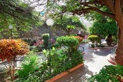 Miejski park, Ribeira Brava, Sao Nicolau wyspa, przylądek Verde zdjęcie royalty free
