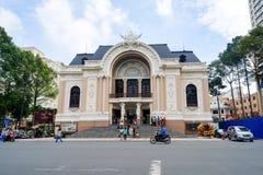 Miejski Theatre także znać jako Saigon opera Ho Chi Minh miasto Zdjęcie Royalty Free