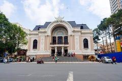 Miejski Theatre także znać jako Saigon opera Ho Chi Minh miasto Obrazy Royalty Free