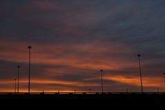 miejski wschód słońca zdjęcie royalty free