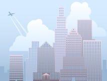 miejskiego pejzażu dzień ilustracji