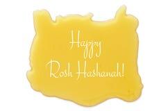 Miel aislada en un fondo blanco Hashanah de Rosh y x28; holiday& judío x29 del Año Nuevo; concepto Imágenes de archivo libres de regalías