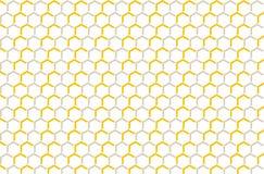 Miel d'ornement, modèle de grille décoratif Photographie stock libre de droits